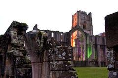 Abadía de las fuentes cerca de York Inglaterra Fotos de archivo libres de regalías