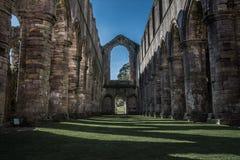 Abadía de las fuentes en Yorkshire, Inglaterra Imagen de archivo