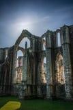 Abadía de las fuentes en Yorkshire, Inglaterra Fotografía de archivo libre de regalías