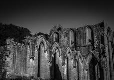 Abadía de las fuentes en Yorkshire, Inglaterra Foto de archivo