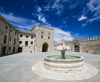 Abadía de Las Huelgas cerca de Burgos en España Imagen de archivo