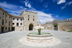 Abadía de Las Huelgas cerca de Burgos en España Fotos de archivo