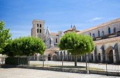 Abadía de Las Huelgas cerca de Burgos en España foto de archivo