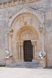 Abadía de Leonardo del St. Manfredonia. Puglia. Italia. Foto de archivo libre de regalías