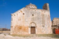 Abadía de Leonardo del St. Manfredonia. Puglia. Italia. Imágenes de archivo libres de regalías