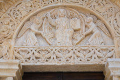 Abadía de Leonardo del St. Manfredonia. Puglia. Italia. Imagen de archivo