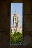 Abadía de Lerins en la isla del santo-Honorat, Francia Fotografía de archivo