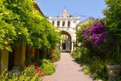 Abadía de Lerins en la isla del santo-Honorat, Francia Imágenes de archivo libres de regalías