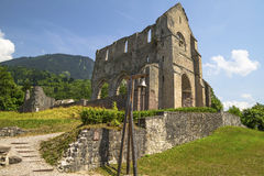 Abadía de los d'Aulps de Jean del santo, Francia Fotos de archivo libres de regalías