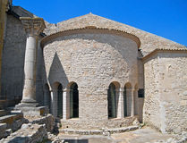 Abadía de los SS. Trinidad. Venosa. Basilicata. Fotos de archivo libres de regalías