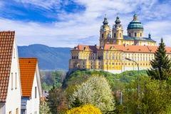 Abadía de Melk en Austria Foto de archivo