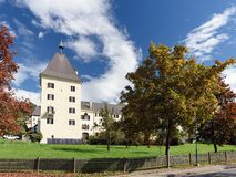 Abadía de Millstatt en la caída Millstatt ve, Austria Imagen de archivo libre de regalías