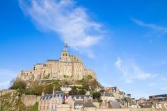 Abadía de Mont Saint Michel Foto de archivo libre de regalías