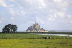 Abadía de Mont Saint Michel, Normandía, Francia Foto de archivo