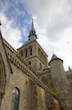Abadía de Mont Saint Michel, Normandía, Francia Imágenes de archivo libres de regalías