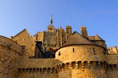 Abadía de Mont-Santo-Miguel, Francia Fotografía de archivo libre de regalías