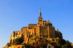 Abadía de Mont-Santo-Miguel, Francia Foto de archivo libre de regalías
