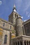 Abadía de Mont-Santo-Miguel Francia en verano Imágenes de archivo libres de regalías