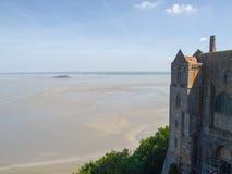 Abadía de Mont St Michel Fotografía de archivo