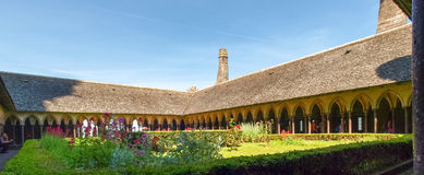 Abadía de Mont St Michel Imagenes de archivo