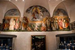 Abadía de Monte Oliveto Maggiore, Toscana, Italia Fotografía de archivo libre de regalías