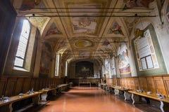 Abadía de Monte Oliveto Maggiore, Toscana, Italia Foto de archivo