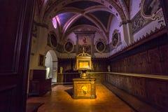 Abadía de Monte Oliveto Maggiore, Toscana, Italia Fotos de archivo libres de regalías