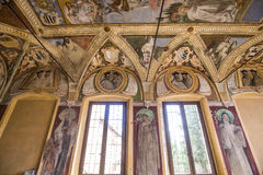 Abadía de Monte Oliveto Maggiore, Toscana, Italia Imagenes de archivo