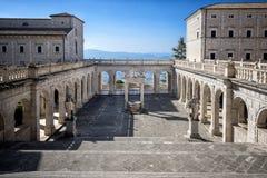 Abadía de Montecassino Lazio, Italia imagen de archivo libre de regalías