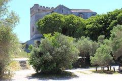 Abadía de Montmajour en la Provence en Francia Imágenes de archivo libres de regalías