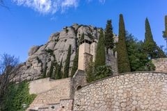 Abadía de Montserrat Imagenes de archivo