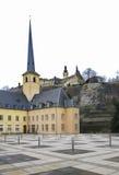 Abadía de Neumunster en la ciudad de Luxemburgo Imágenes de archivo libres de regalías