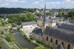 Abadía de Neumunster en la ciudad de Luxemburgo Imagen de archivo libre de regalías