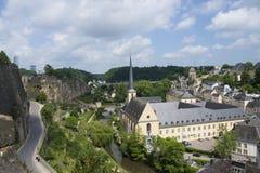 Abadía de Neumunster en la ciudad de Luxemburgo Foto de archivo