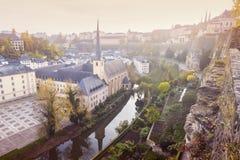 Abadía de Neumunster en la ciudad de Luxemburgo Fotos de archivo