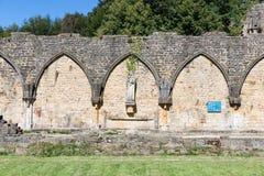 Abadía de Orval de las ruinas en belga Ardenas Foto de archivo