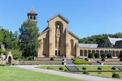 Abadía de Orval del patio en belga Ardenas Fotos de archivo