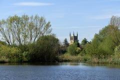 Abadía de Pershore en Worcestershire Imágenes de archivo libres de regalías