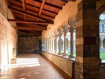 Abadía de Piona, del patio interior y del claustro Foto de archivo libre de regalías