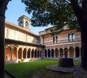 Abadía de Piona, del patio interior y del claustro Fotos de archivo