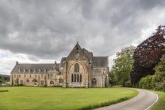 Abadía de Pluscarden en Moray Imagenes de archivo