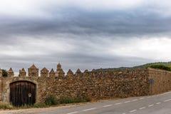Abadía de Poblet en España Imagen de archivo libre de regalías