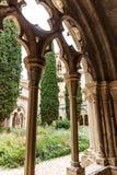 Abadía de Poblet en España Foto de archivo