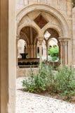 Abadía de Poblet en España Imagen de archivo