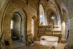 Abadía de Poblet en España Imágenes de archivo libres de regalías