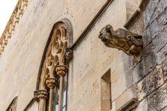 Abadía de Poblet en España Foto de archivo libre de regalías