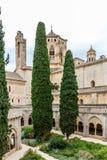 Abadía de Poblet en España Fotografía de archivo