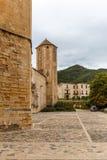 Abadía de Poblet en España Fotos de archivo libres de regalías