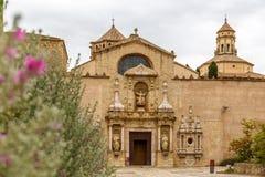 Abadía de Poblet en España Imagenes de archivo