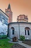 Abadía de Polirone en San Benedetto Po, Italia Fotografía de archivo